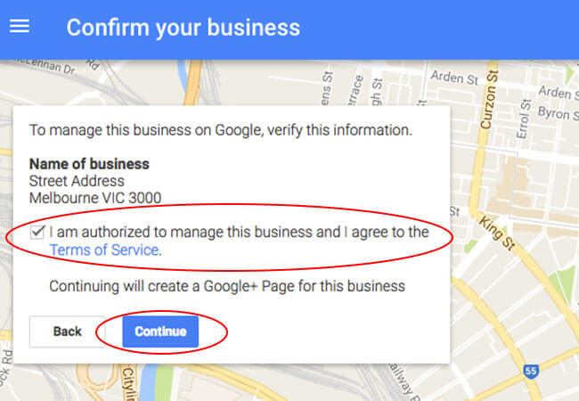 confirm your google listing